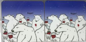 Bugger Bear Set of Four Funny Table Coasters